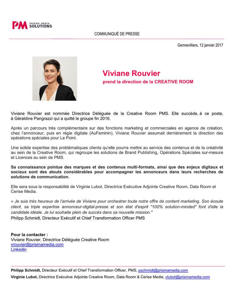 Viviane Rouvier - Prisma Media Solutions