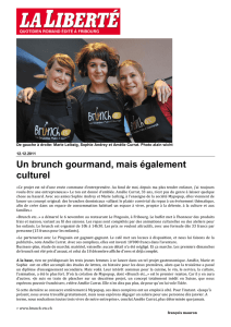 Un brunch gourmand, mais également culturel