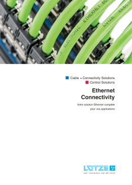 Ethernet Connectivity - Friedrich Lütze GmbH