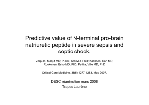Analyse d`article : Varpula M. et al Predictive value of N