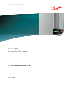 Danfoss ULX Indoor User Manual FR