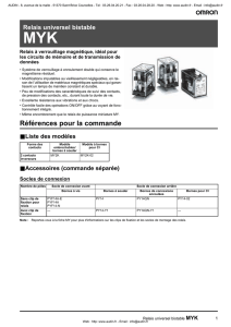 OMRON - Documentation: Relais industriel bistable - MYK