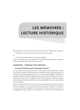 les mémoires - Editions Ellipses