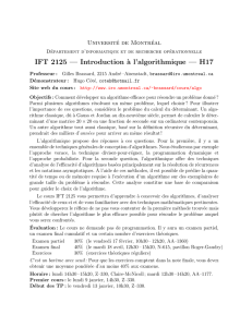 IFT 2125 — Introduction `a l`algorithmique — H17