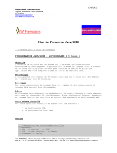 Plan de Formation Java/J2EE