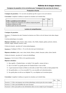 Evaluation SEGPA Français niveau1