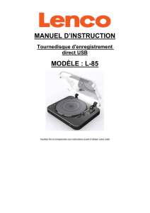 manuel d`instruction modèle : l-85