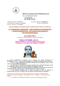 LE SYNDROME D`ASPERGER : UNE APPROCHE INTEGRATIVE