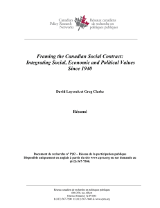 """Framing the Canadian Social Contract:"