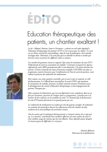 Education thérapeutique des patients, un