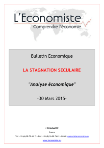 LA STAGNATION SECULAIRE 30 Ma