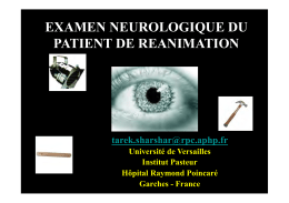 EXAMEN NEUROLOGIQUE DU PATIENT DE REANIMATION
