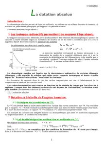graphique de datation absolue datation des matières organiques