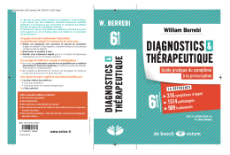 diagnostics thérapeutique