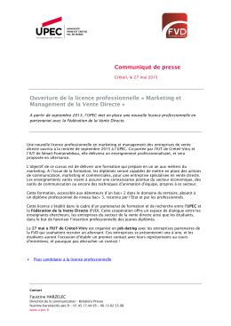 Marketing et Management de la Vente Directe