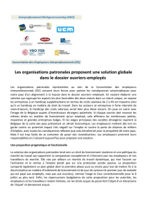 Les organisations patronales proposent une solution
