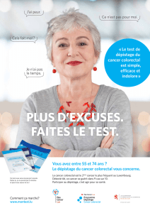 « Le test de dépistage du cancer colorectal est simple, efficace et