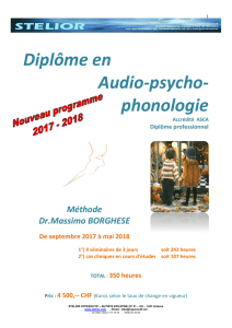 Formation Audio Phono Psychologie