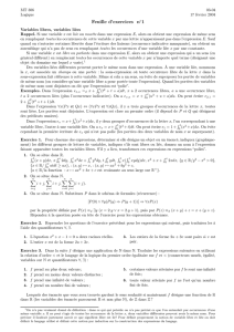 Feuille d`exercices n  1