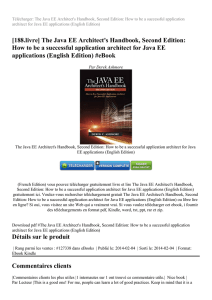 Télécharger The Java EE Architect`s Handbook