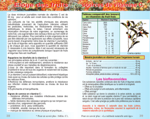 Eloge des fruits sources de vitamine C sources de