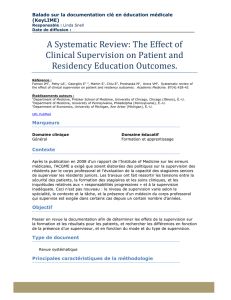 A Systematic Review: The Effect of Clinical Supervision on Patient