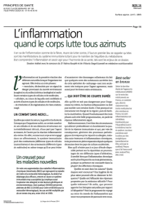 L`inflammation - Thierry Souccar Editions