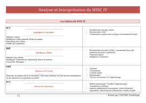 Analyse et Interprétation du WISC IV