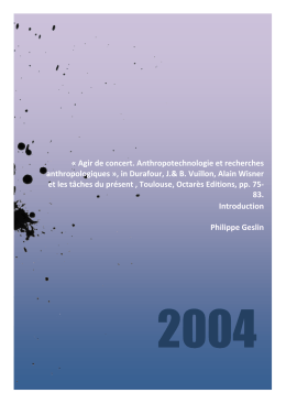 Introduction PDF - Philippe Geslin