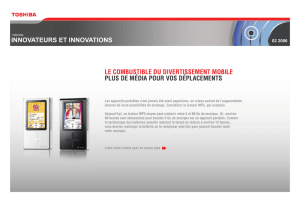 INNOVATEURS ET INNOVATIONS Le combustibLe du
