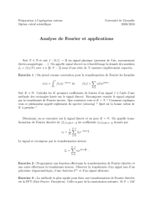 feuille sur la transformation de Fourier et ses applications