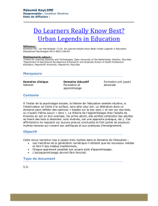 Do Learners Really Know Best? Urban Legends in Education