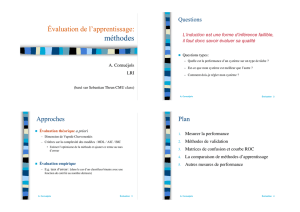 Évaluation de l`apprentissage