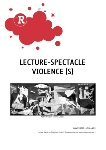 lecture-spectacle violence (s)