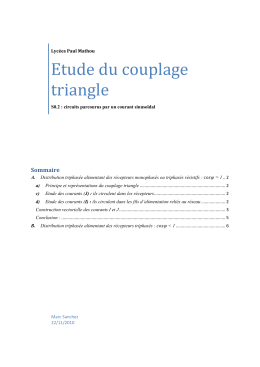 Etude du couplage triangle