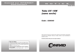 Tube UV 15W (sans socle)