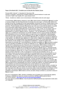 Paper of the Month #30 – Fondation pour la Sécurité des Patients