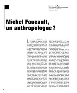 Michel Foucault, un anthropologue