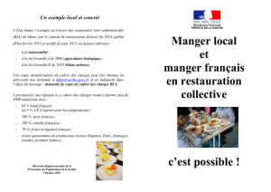 Manger local et manger français en restauration collective c`est