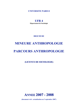 mineure anthropologie parcours anthropologie