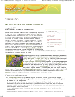 Guides de nature - Resources for Rethinking