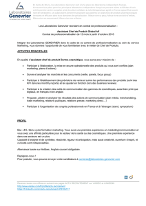 Assistant Chef de Produit Global h/f Contrat de profes