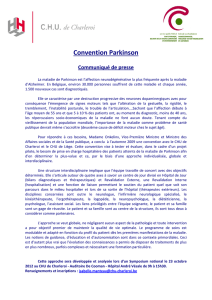Symposium national de la Convention Parkinson en