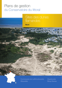 Sites des dunes flamandes Plans de gestion