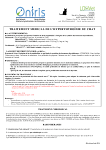 Traitement Chat Hyperthyroidie - LDHVet