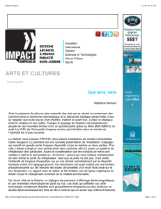Impact Campus - École d`art | Université Laval