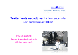 Traitements neoadjuvants des cancers du sein surexprimant HER2