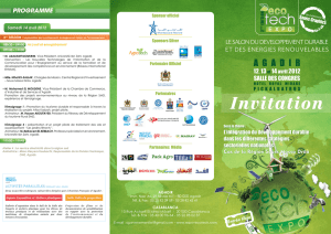 Programme ECO TECH EXPO 2012
