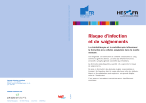 Risque d`infection et de saignements - HEdS-FR