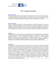 Part II – Exemples de Questions Science de base A Comment le